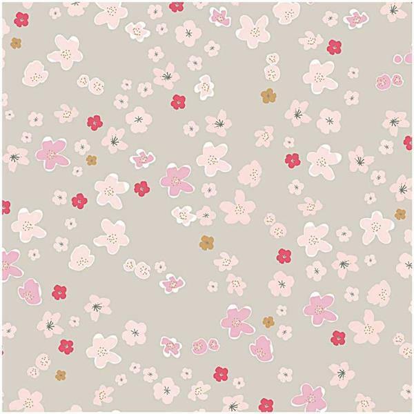 Tissu coton - imprimé, grandes fleurs