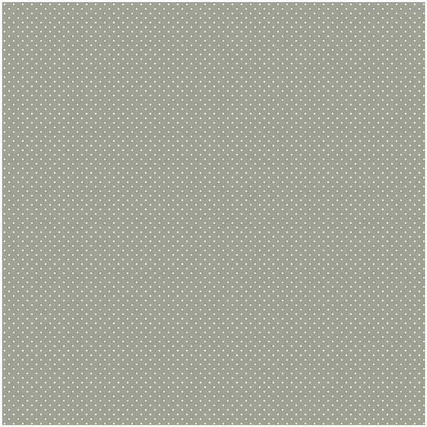 Katoenen stof - bedrukt, grijs/witte stippen