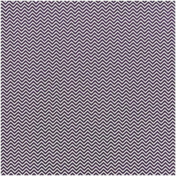 Tissu coton - imprimé, blanc/violet zigzag