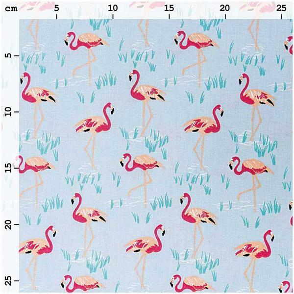 Baumwollstoff - bedruckt, Flamingo
