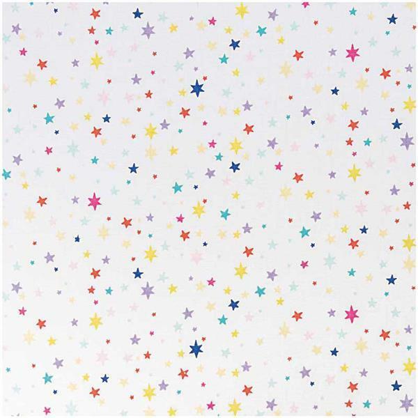 Katoenen stof - bedrukt, sterren