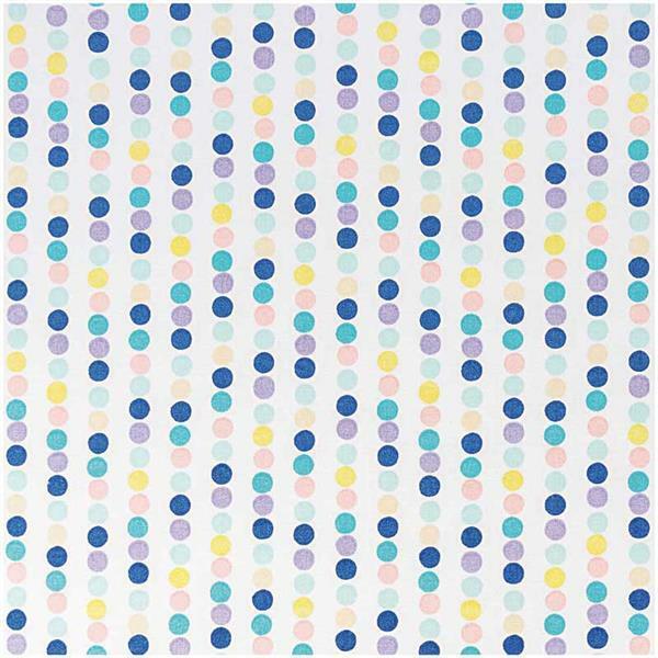 Baumwollstoff - bedruckt, Punktelinie blau/lila
