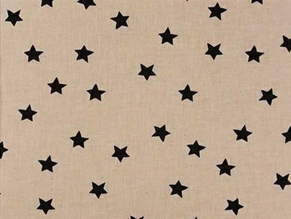 Druckstoff - natur, Sterne schwarz