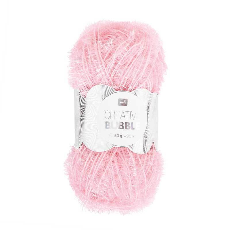 Creative Bubble Garn - 50 g, rosa
