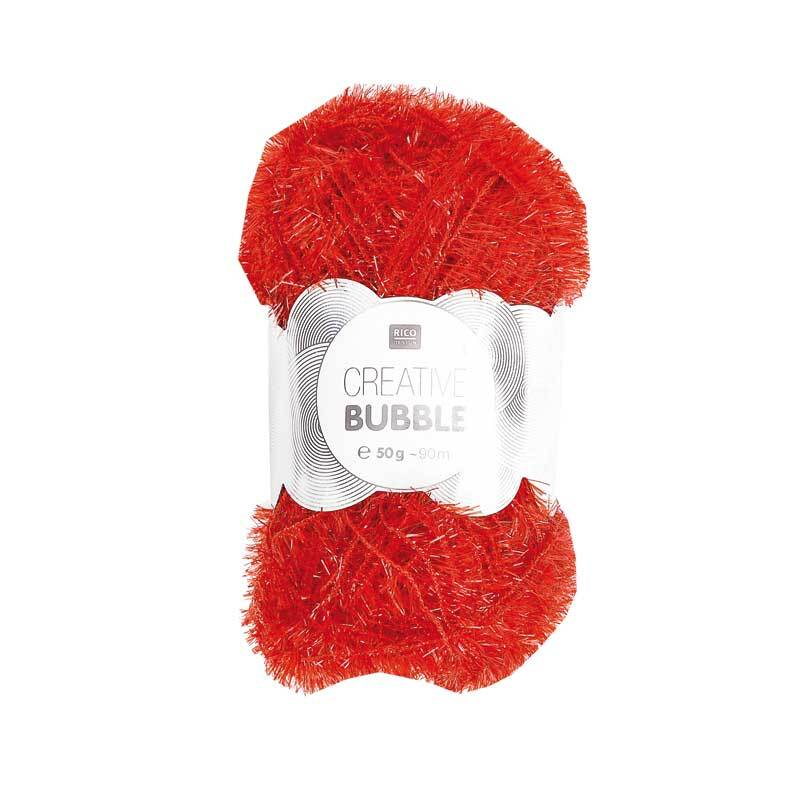 Rico Creative Bubble garen - 50 g, rood