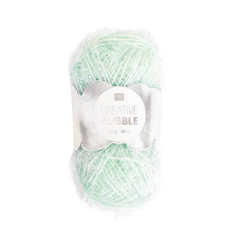 Rico Creative Bubble garen - 50 g, munt