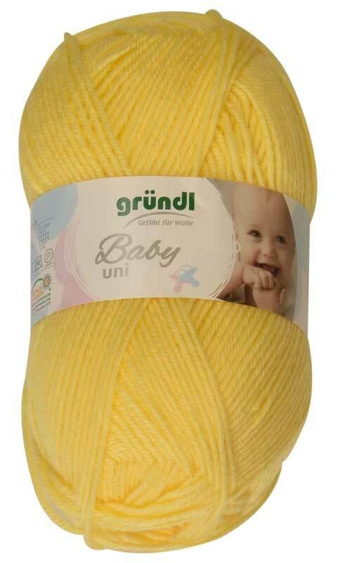 Wol Baby uni - 50 g, geel