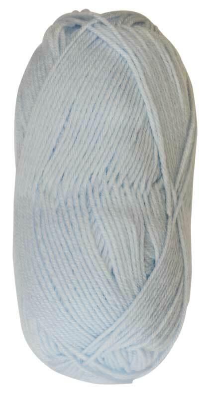 Wolle Baby uni - 50 g, blau