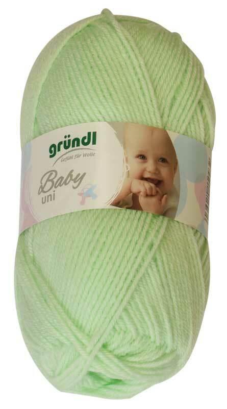 Laine Baby uni - 50 g, vert