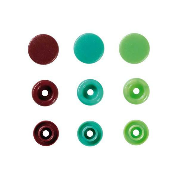 Boutons-pressions Color Snaps - 30 pces, tons vert