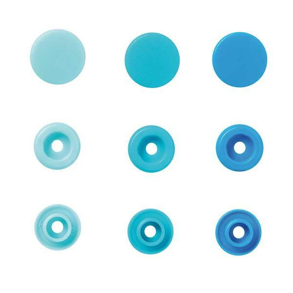 Druckknöpfe Color Snaps - 30 Stk., Ø 12,4, blaumix