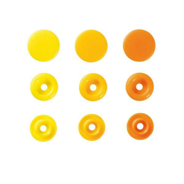 Druckknöpfe Color Snaps - 30 Stk., Ø 12,4, gelbmix