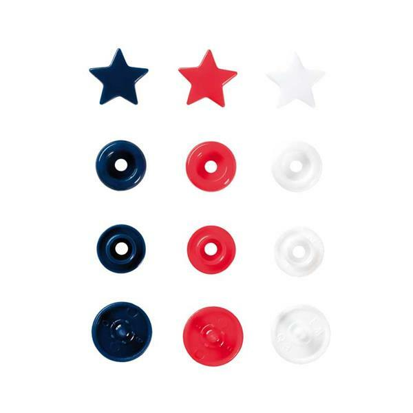 Drukknopen Color Snaps - 30 st., Ø 12,4 sterren