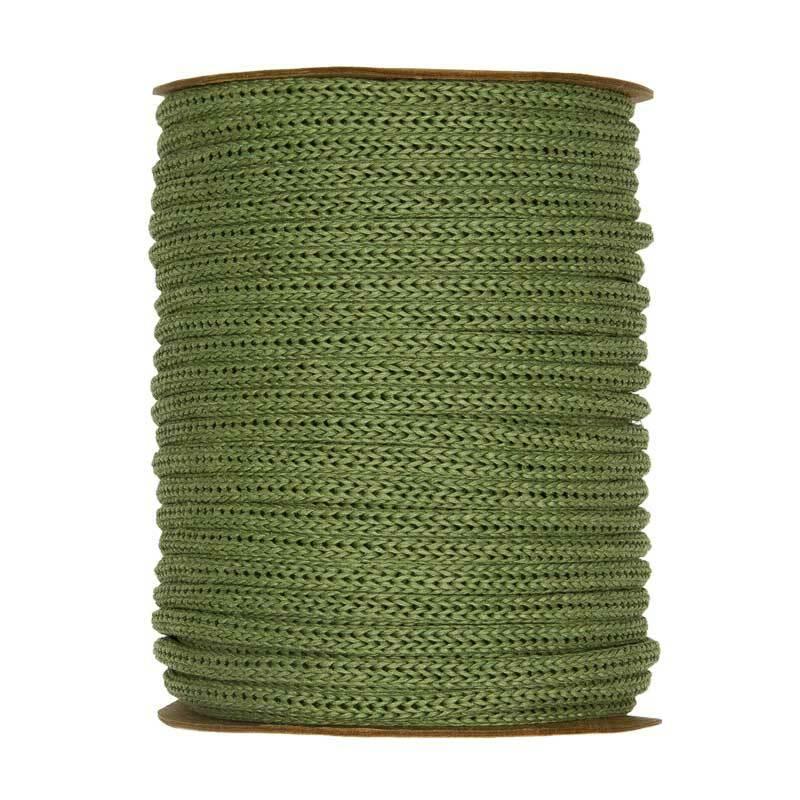 Rondgebreide tube - Ø 4 mm, groen
