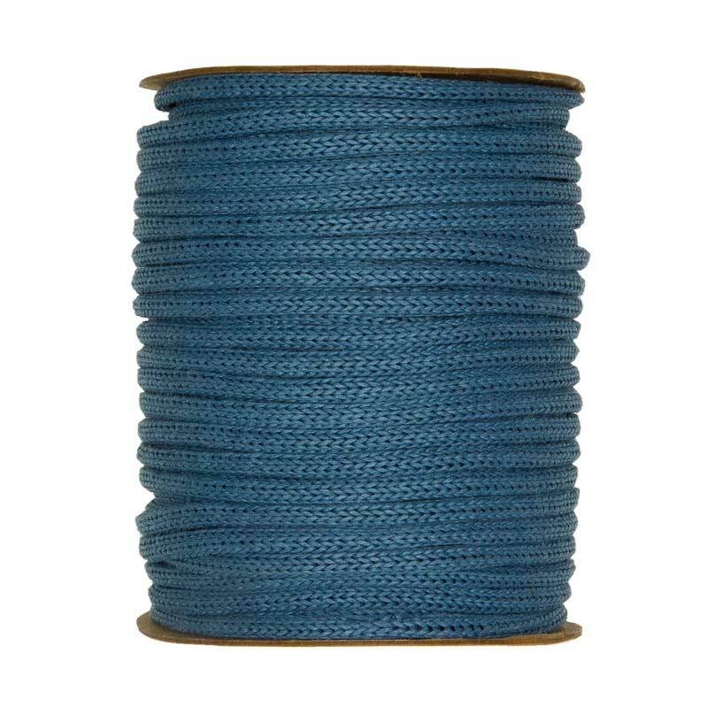 Rondgebreide tube - Ø 4 mm, blauw