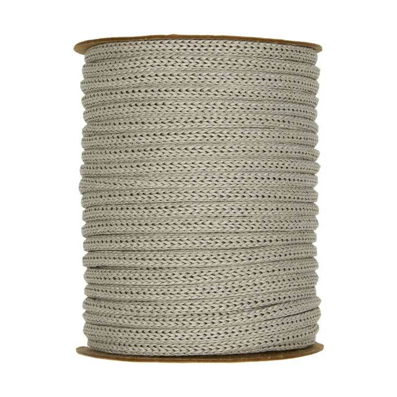 Strickschlauch - Ø 4 mm, grau