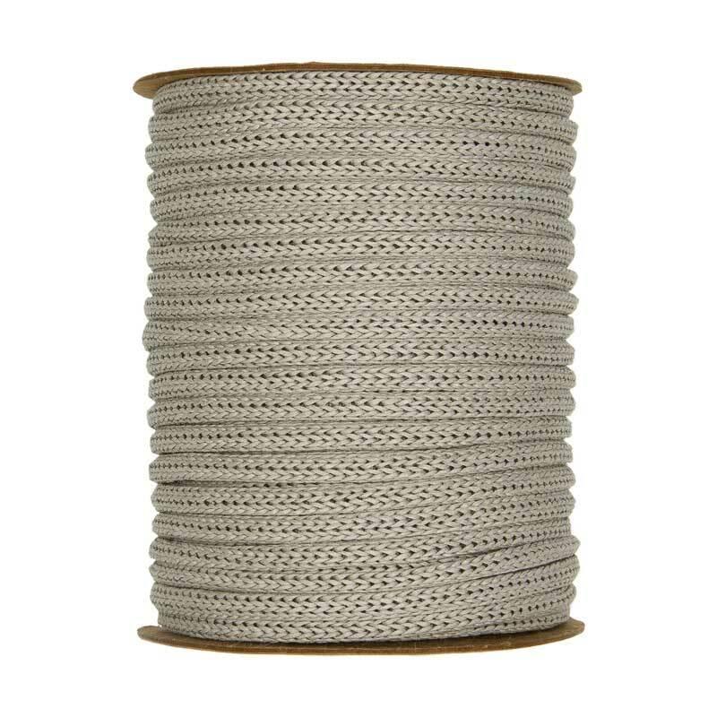 Rondgebreide tube - Ø 4 mm, grijs