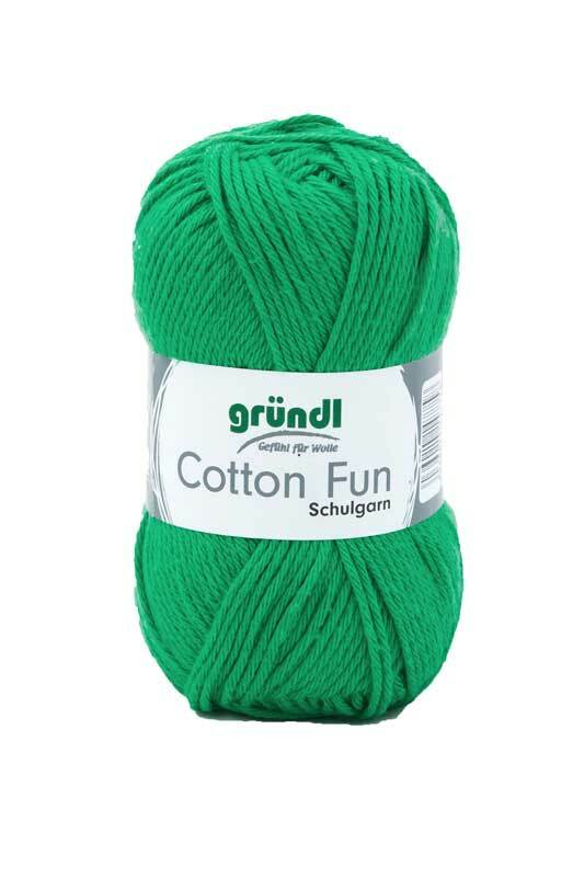 Wolle Cotton Fun - 50 g, grasgrün