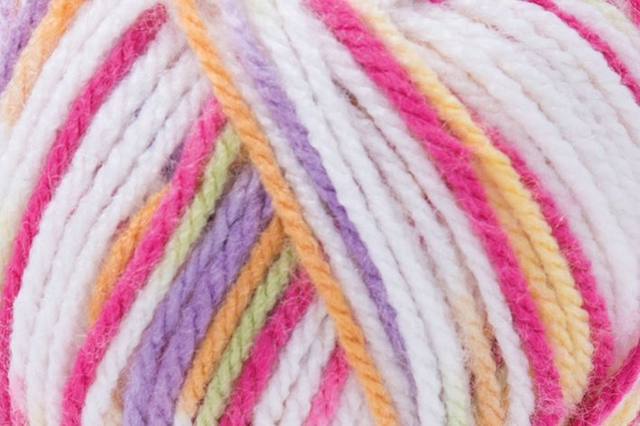 Laine Lisa Color - 50 g, pink-orange-jaune