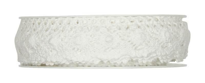 Häkelspitze - 28 mm, weiß