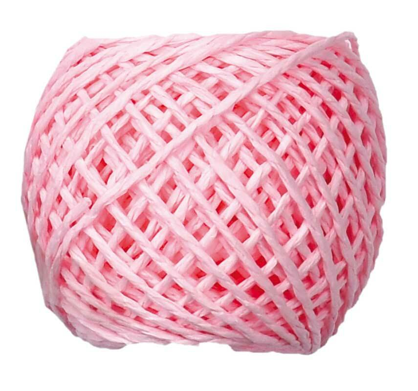 Papierschnur - 20 m, rosa