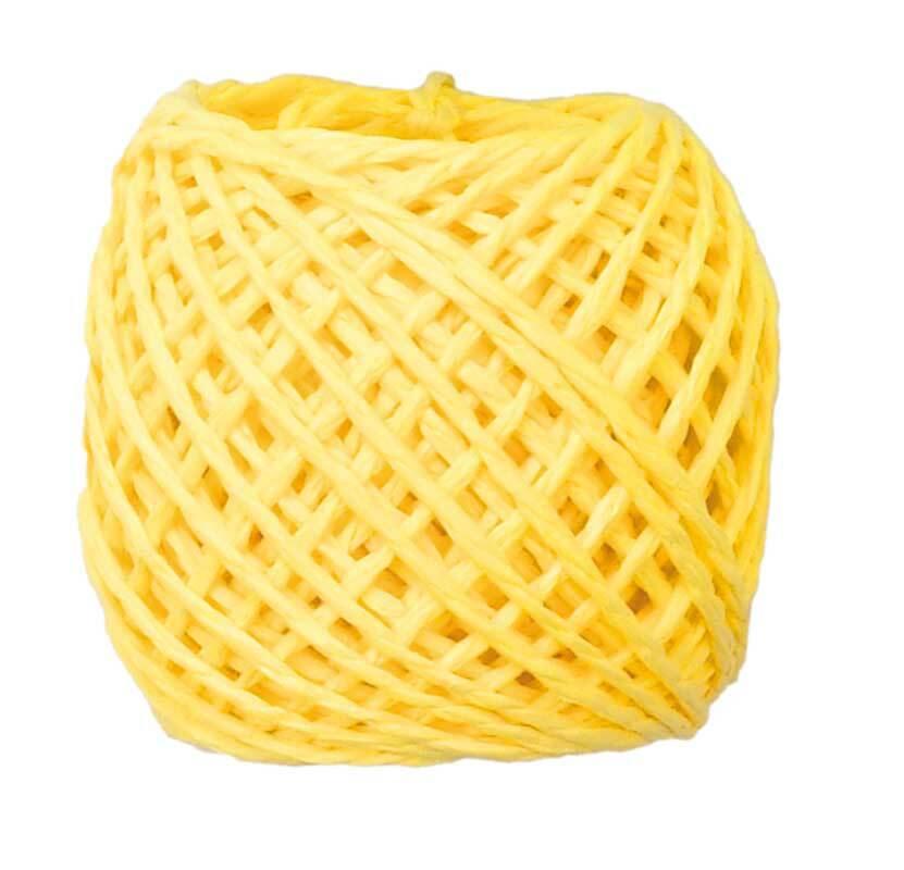 Papierschnur - 20 m, gelb