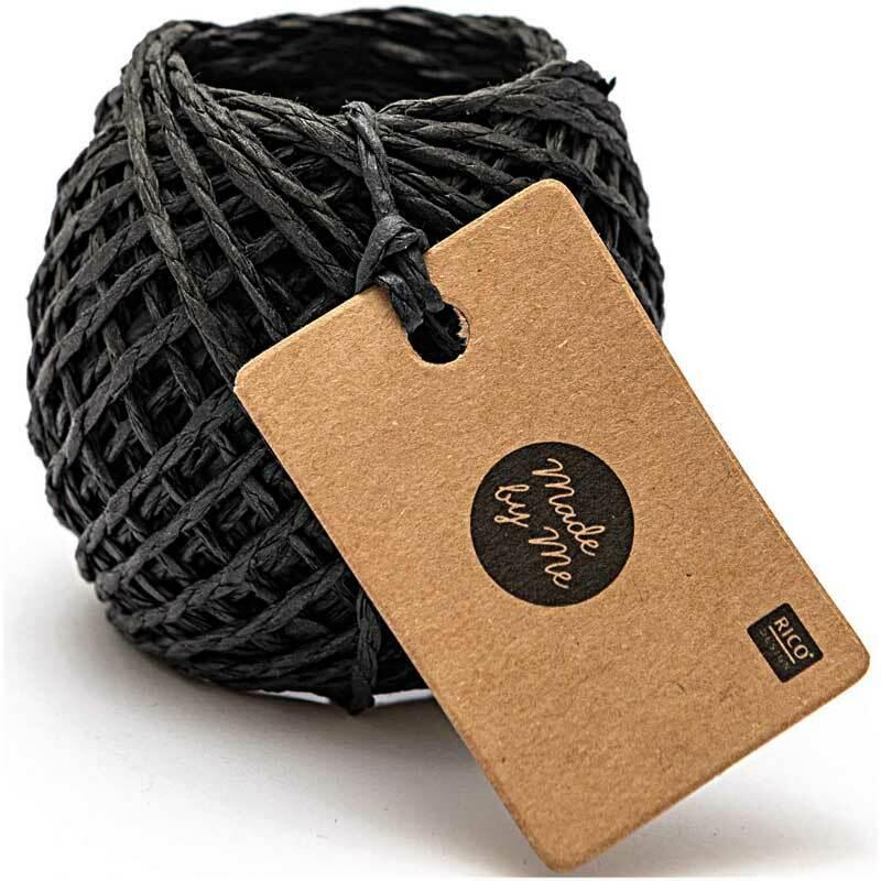 Papierschnur - 20 m, schwarz