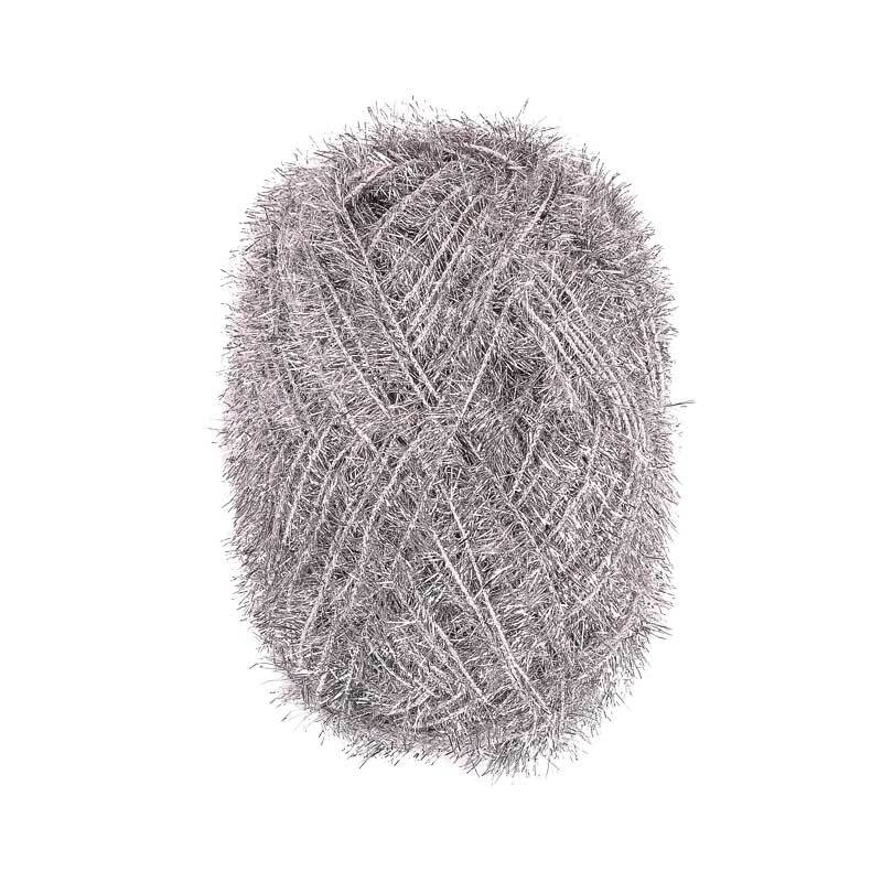 Creative Bubble Garn - 50 g, metallic silber