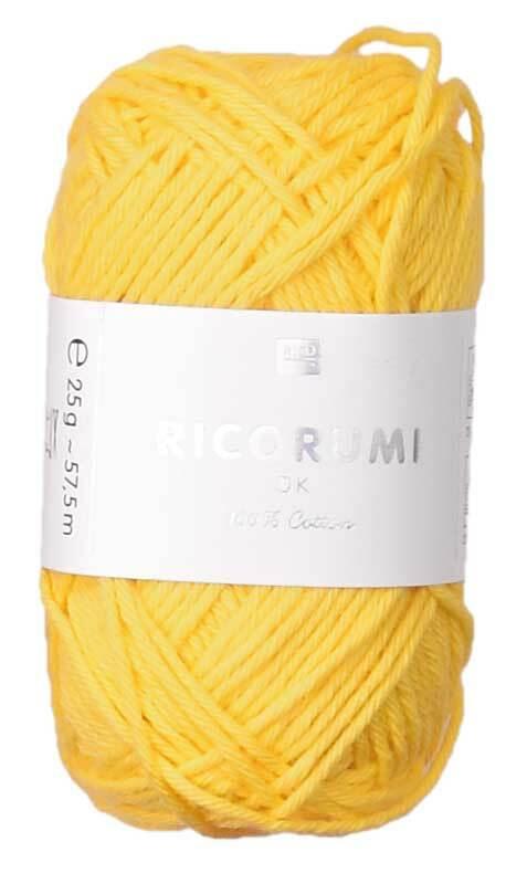 Ricorumi wol - 25 g, geel