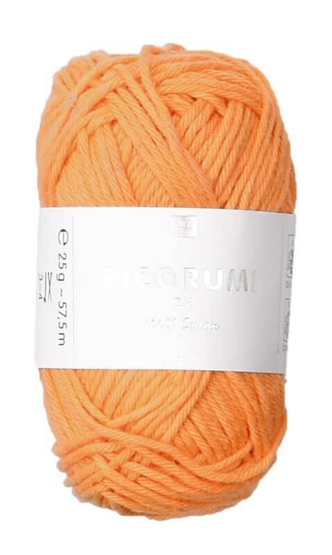 Ricorumi wol - 25 g, mandarijn