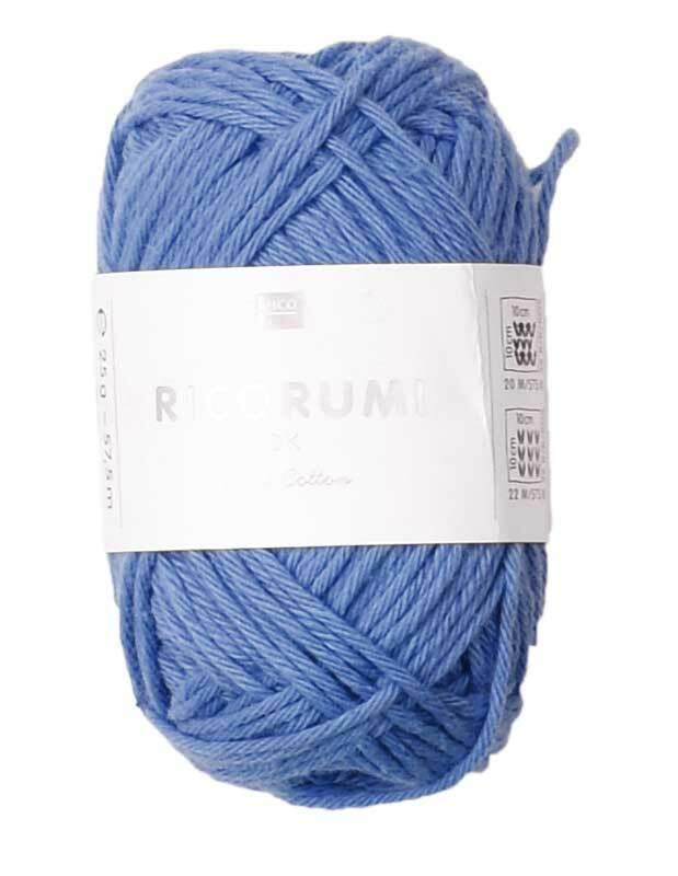 Laine Ricorumi - 25 g, bleu