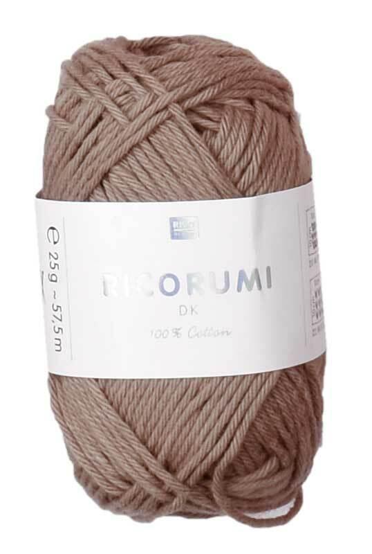 Ricorumi wol - 25 g, lichtbruin