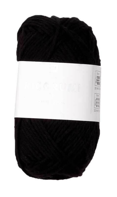 Ricorumi wol - 25 g, zwart