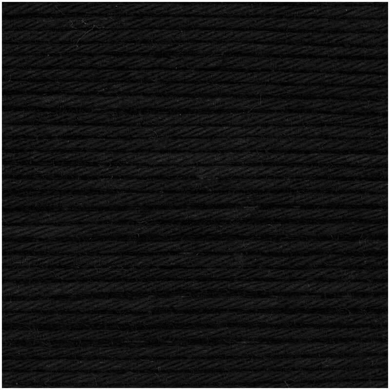 Ricorumi Wolle - 25 g, schwarz