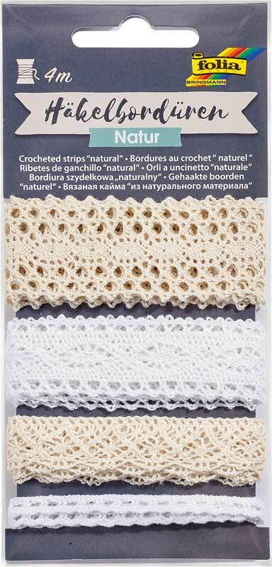 Bordure crochetée - 4 m, naturel