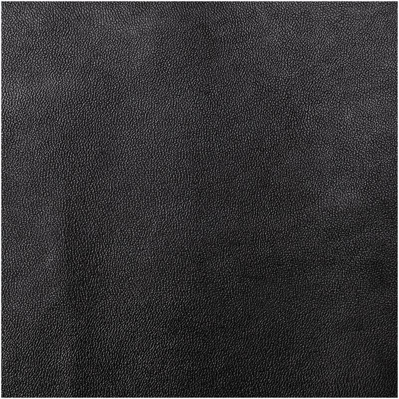 Kunstleer - 45 x 100 cm, zwart mat