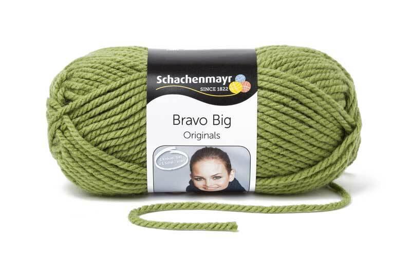 Wolle Bravo Big - 200 g, khaki
