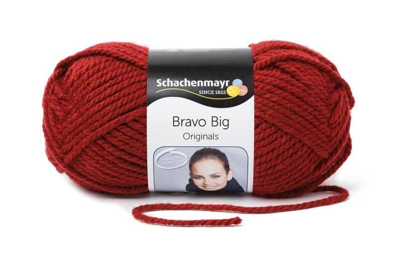 Laine Bravo Big - 200 g, bourgogne