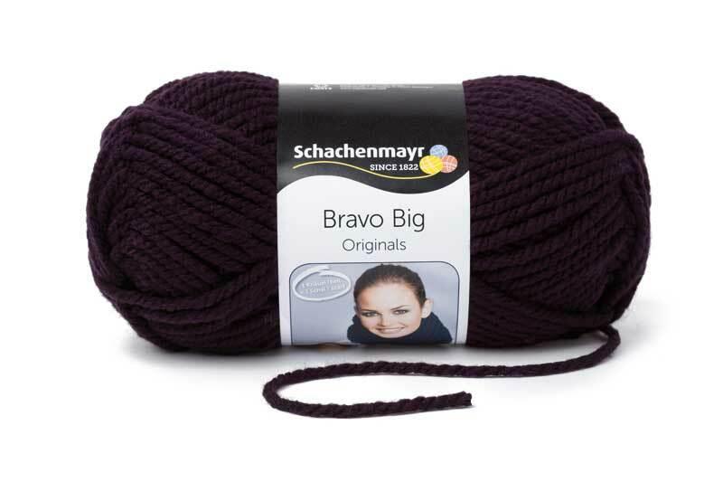 Wolle Bravo Big - 200 g, aubergine