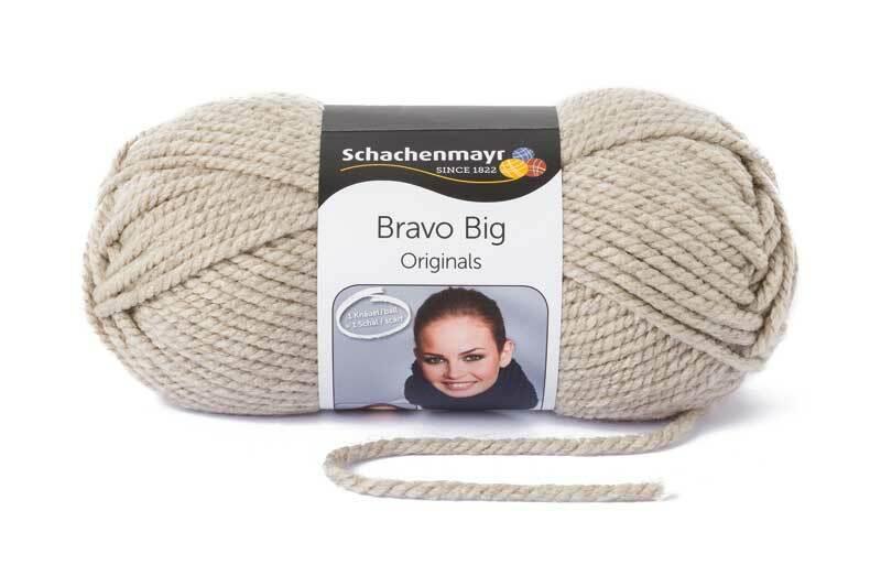Wolle Bravo Big - 200 g, leinen meliert