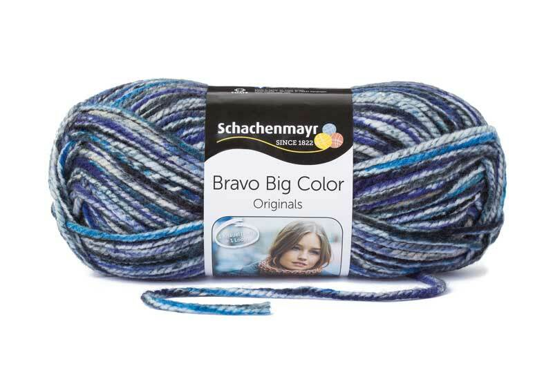 Wolle Bravo Big Color - 200 g, saphir color