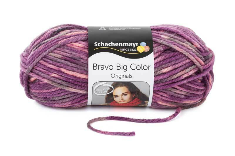 Wolle Bravo Big Color - 200 g, amethyst color