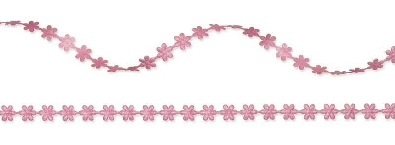 """Satijnen band """"bloemen"""" - 8 m, bessen"""