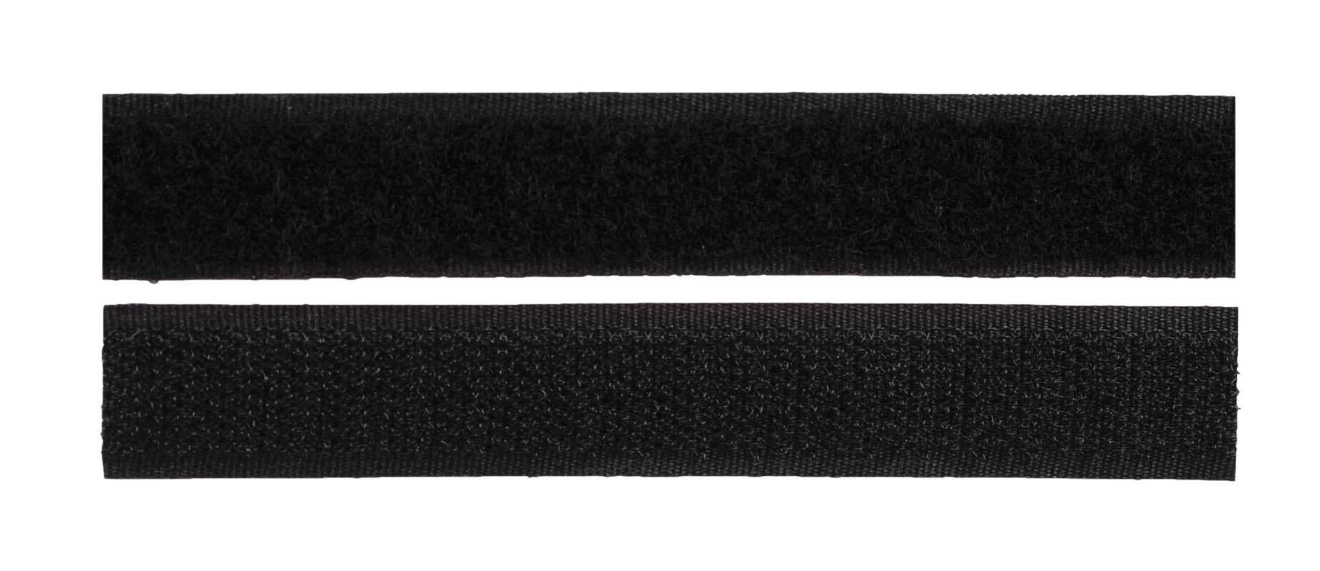 Klittenband - zelfklevend, zwart