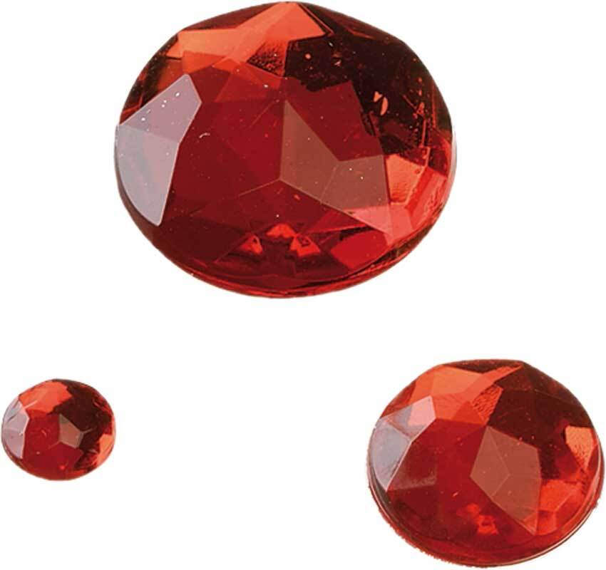"Lot Pierres Strass ""glamour"", rouge"