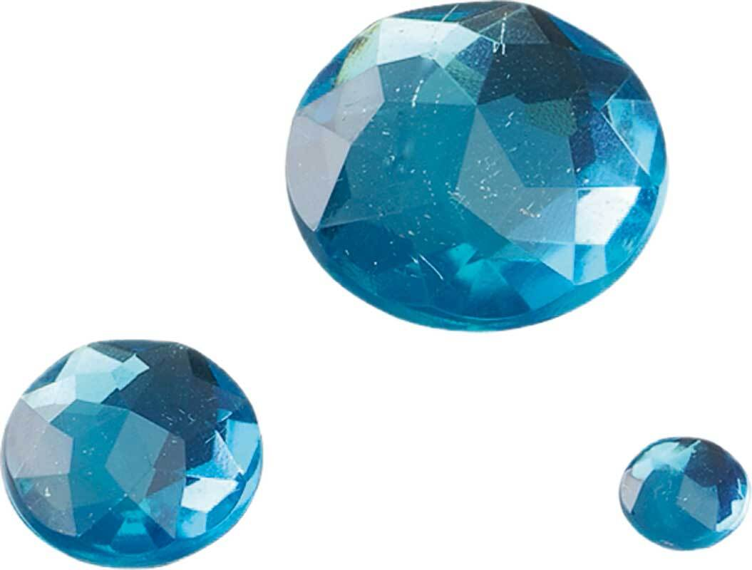"Lot Pierres Strass ""glamour"", turquoise"