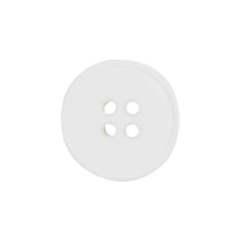 Boutons 4 trous - Ø 15 mm, blanc