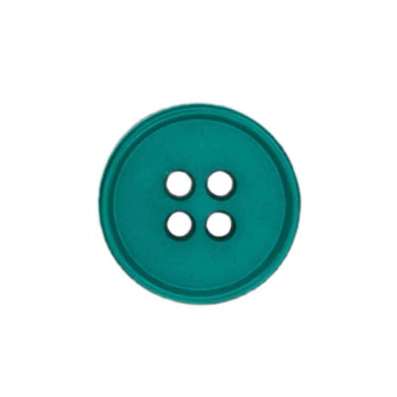 Vierlochknopf - Ø 15 mm, petrol