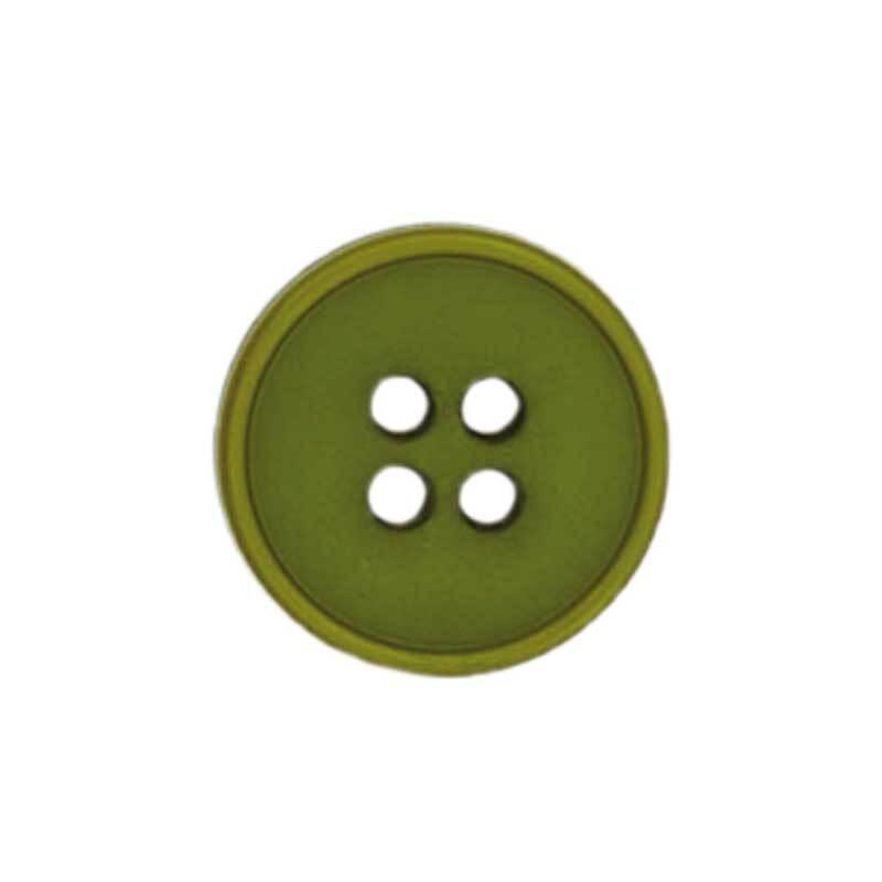 Boutons 4 trous - Ø 15 mm, vert