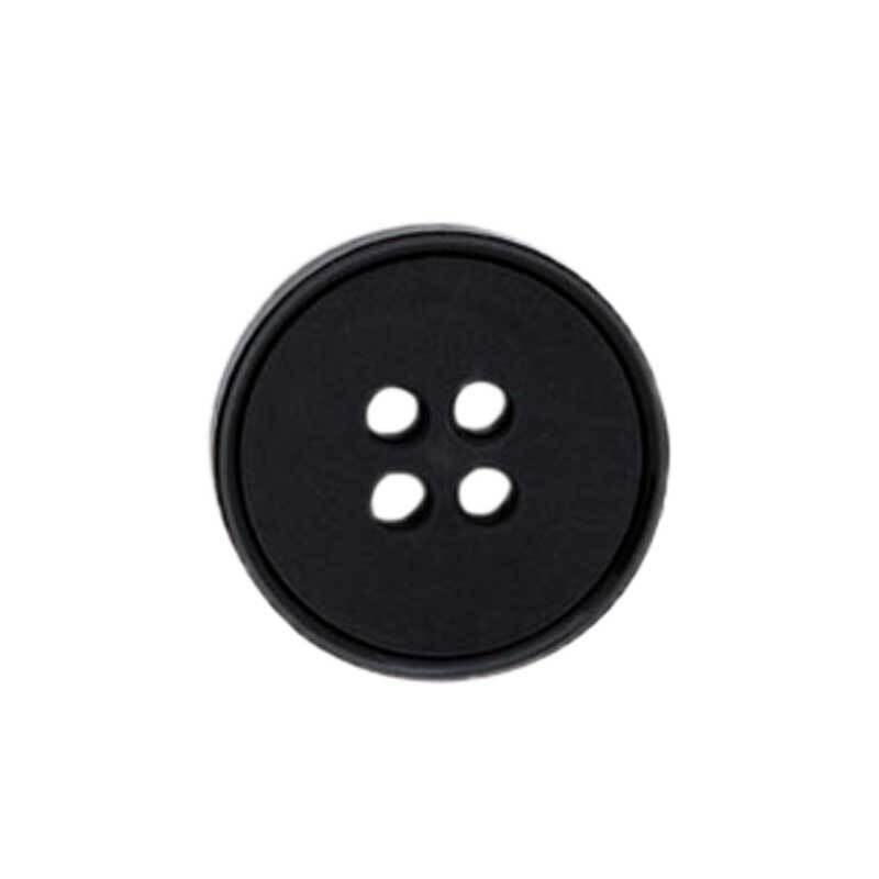 Vierlochknopf - Ø 15 mm, schwarz